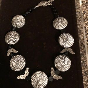 Jewelry - One of a kind choker silver with butterflies